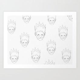 Gon Pattern Art Print