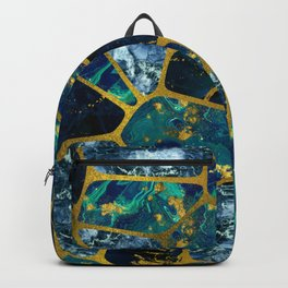 Voronoi diagram Gold Gemstone texture Backpack