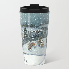 Christmas is Here Travel Mug