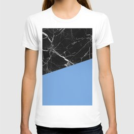 Black Marble with Little Boy Blue Color T-shirt