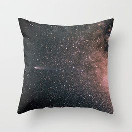 Halley's Comet and the Milky Way Throw Pillow