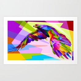 Colorful Eagle Illustration Art Print
