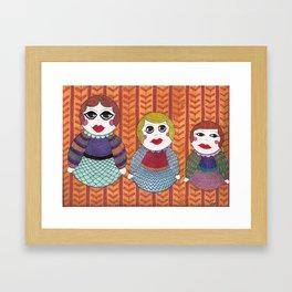 Russian nesting dolls Framed Art Print
