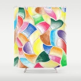 Life is full of colours!!!! Shower Curtain