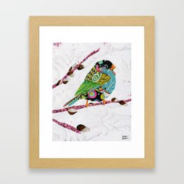 Cafe Swirly Bird. Candy Colored Edition Framed Art Print