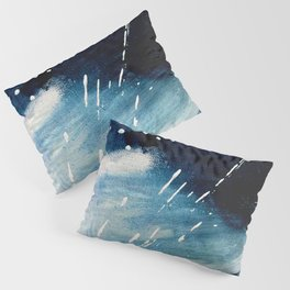 Meteor Shower - an abstract acrylic piece in blue and white Pillow Sham