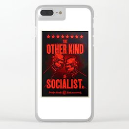 """Vintage """"The Other Kind of Socialist"""" Alcoholic Lithograph Advertisement in bright Commie Red! Clear iPhone Case"""