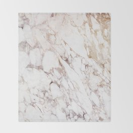 White Onyx Marble Throw Blanket