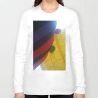 hot air balloons Long Sleeve T-shirts featuring Hot Air Balloons by merialayne
