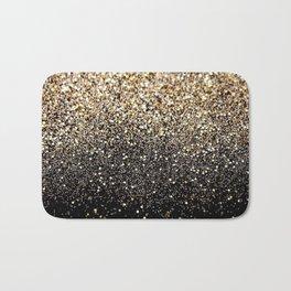 Black & Gold Sparkle Badematte