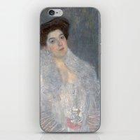 gustav klimt iPhone & iPod Skins featuring Portrait of Hermine Gallia by Gustav Klimt by Palazzo Art Gallery