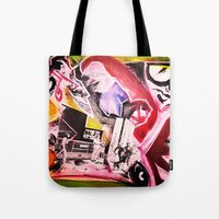 madonna Tote Bags featuring La Madonna by Davide Spinelli