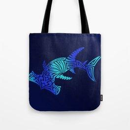 Ombre Blues Hammerhead Tote Bag