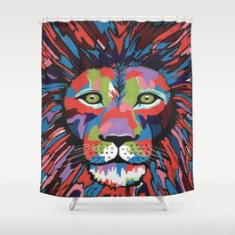 Flamboyant Lion Shower Curtain