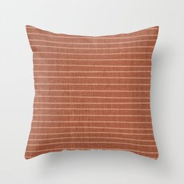 Boho, Minimal, Line Art, Stripes, Terracotta Throw Pillow