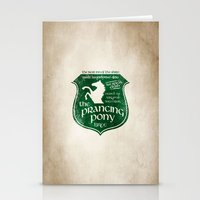 gondor Stationery Cards featuring The Prancing Pony Sigil by Nxolab