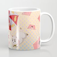 puppycat Mugs featuring Bee and Puppycat by Artist Meli