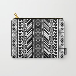 Black and White Adinkra Symbol African Print Pattern Carry-All Pouch