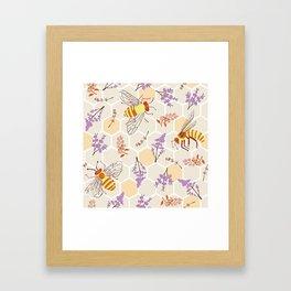 Pollinator Bees Framed Art Print