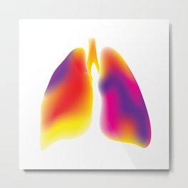 Lungs Metal Print