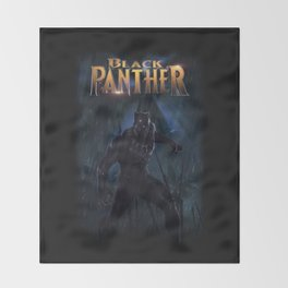 T'Challa , The Black Panther Throw Blanket