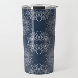 baroque style pattern on grunge background Travel Mug