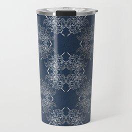 baroque style pattern on grunge background Travel Mug