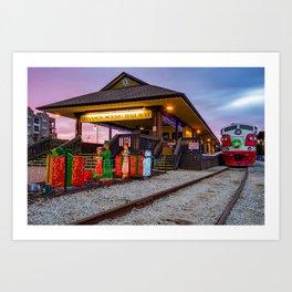 Sunrise at Branson Scenic Railway Christmas Polar Express Art Print