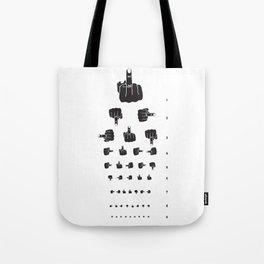 MIDDLE FINGER VISION TEST Tote Bag