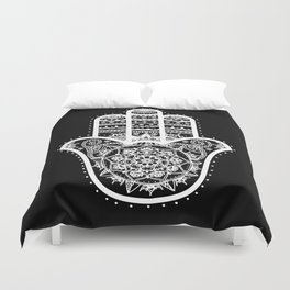 Black & White Hamsa Hand Duvet Cover
