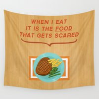 scary Wall Tapestries featuring Scary Food by parkers