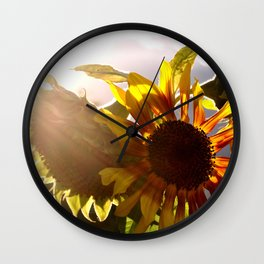 salute to the Sun as a sunflower Wall Clock