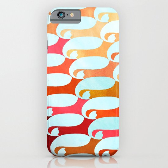 Blue Whale & Red Fox iPhone & iPod Case