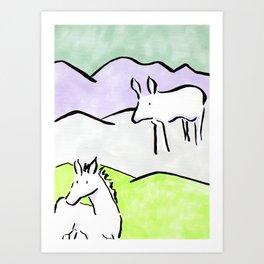 Ink animals Art Print
