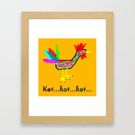 Crazy Cock Framed Art Print