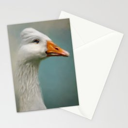 Goose with Bouffant Stationery Cards