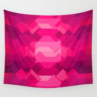 ruby Wall Tapestries featuring Gemstone - Ruby by Picomodi