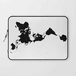 Dymaxion World Map (Fuller Projection Map) - Minimalist Black on White Laptop Sleeve