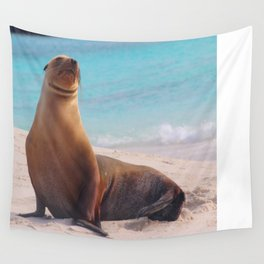 A Seal Sunbathe Wall Tapestry