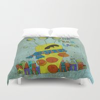 monster Duvet Covers featuring Monster by Catru