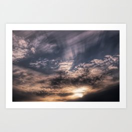 Sunset Sky and Clouds Painting Style Art Print