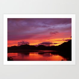 Before The Sun Rises From The West Art Print