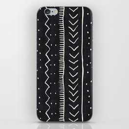 Moroccan Stripe in Black and White iPhone Skin
