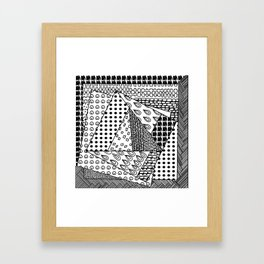 simple doodles in the square . https://society6.com/simpledoodles/collection Framed Art Print