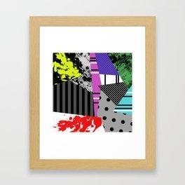 Pick A pattern II - geometric, textured, colourful, splatter, stripes, marble, polka dot, grid Framed Art Print