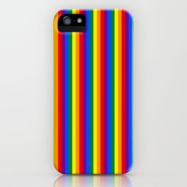 Mini Verticle Gay Pride Rainbow Beach Stripes iPhone Case