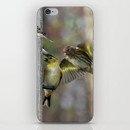Goldfinches at the Feeder iPhone Skin