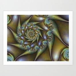 Patina, Abstract Fractal Art Fantasy Spiral Art Print