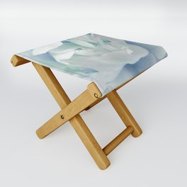 Peony in Blue White Folding Stool