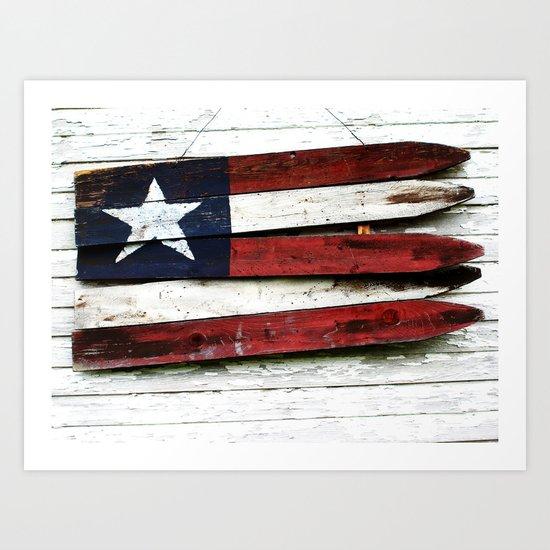The Grand Ol' Wooden Flag Art Print